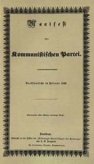 <i>The Communist Manifesto</i> 1848 political publication