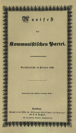 Manifest Van De Communistische Partij Wikipedia
