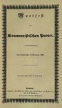 Naslovnica Komunističnega manifesta