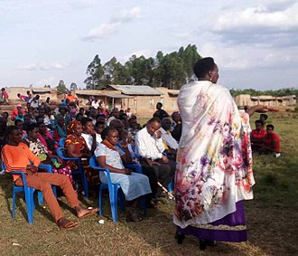 Jacklet Atuhaire - Atuhaire in 2017 at a community consultative meeting in Sheema District