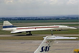 Concorde - Concorde on early visit to Heathrow Airport on 1 July 1972