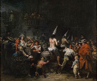 Eugenio Lucas Velázquez - Image: Condenados por la inquisicion 1860