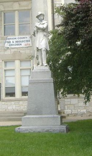 Confederate Monument in Lawrenceburg - Image: Confederate Monument in Lawrenceburg close