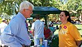 Congressman Miller speaks with Natalia Tocino of Planned Parenthood at the Rainbow Community Center's 5th Annual Pride on the Plaza (7369941602).jpg