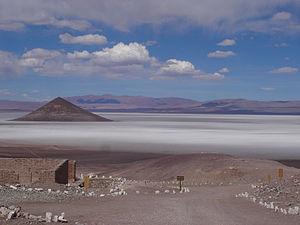 Salt pan (geology) - Cono de Arita in Salar de Arizaro, Salta (Argentina)
