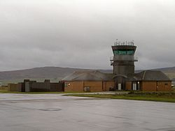 The control tower at former RAF Machrihanish in 2006.