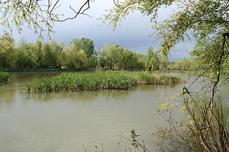 Corb (river) - The confluence of the Corb and the Segre