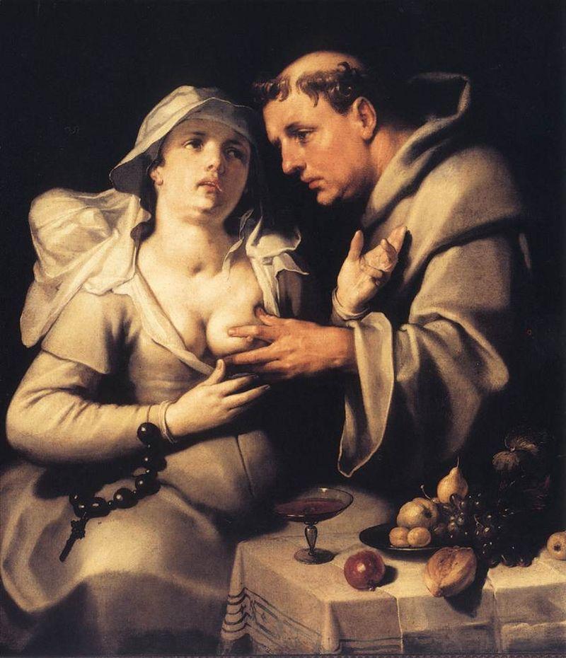 Cornelis Cornelisz. van Haarlem - The Monk and the Nun - WGA05257.jpg