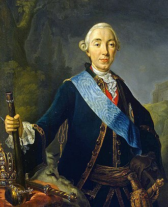 Peter III of Russia - Portrait by Lucas Conrad Pfandzelt of Emperor Peter III, 1762