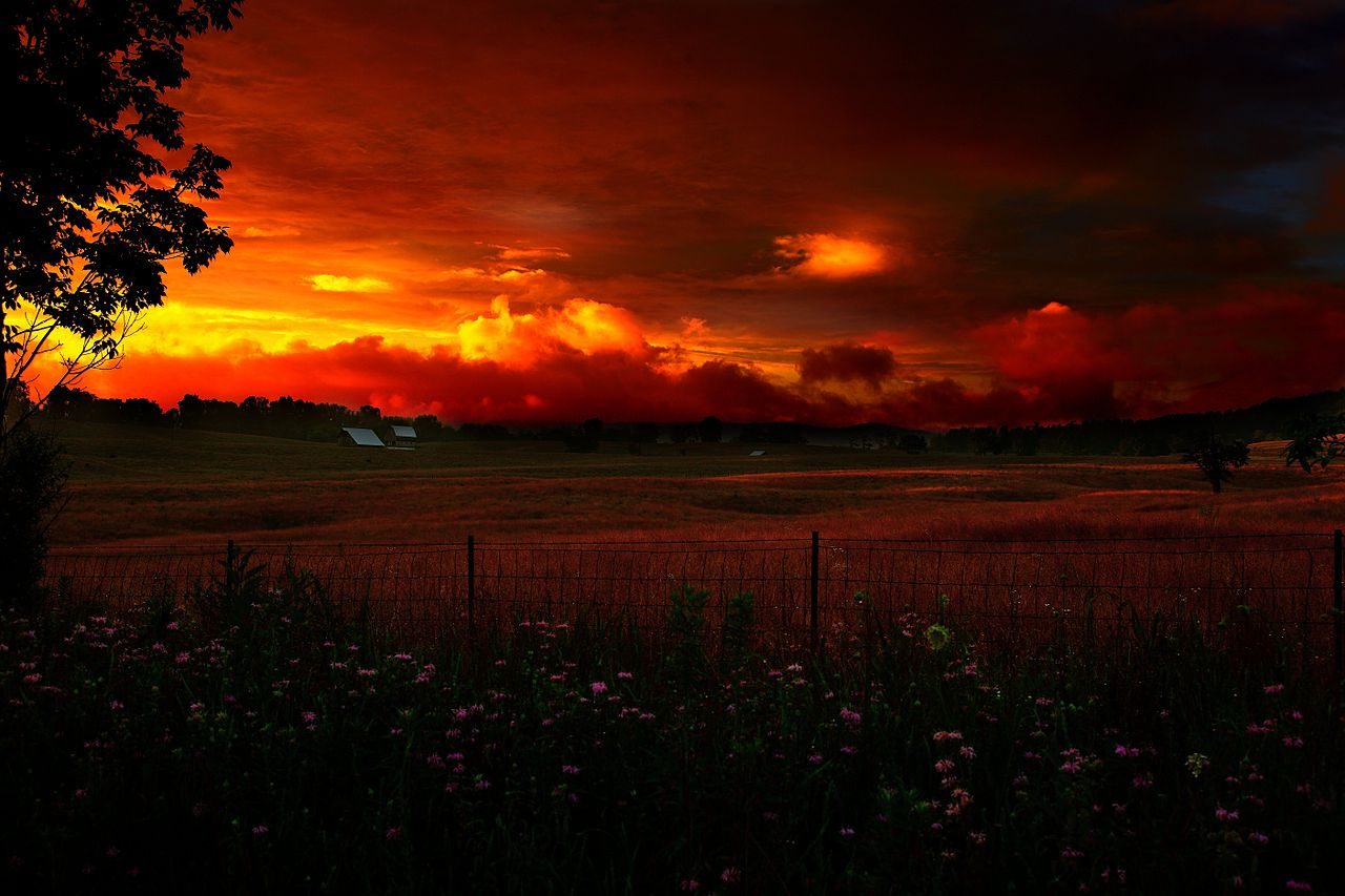 country summer sunsets amazing wallpapers