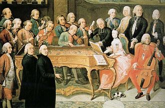 Prince-Bishopric of Liège - Prince-Bishop Johann Theodor of Bavaria at a court concert at Liège