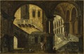 Courtyard in a Renaissance House (Michele Marieschi) - Nationalmuseum - 19045.tif