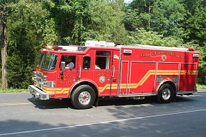 Albemarle County, Virginia - Crozet Volunteer Fire Department Engine 52 truck during the same parade.