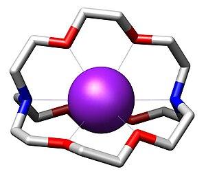 Cryptand - Image: Cryptate of potassium cation