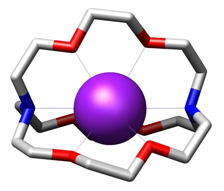Cryptate of potassium cation