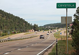 Crystola and U.S. Highway 24.