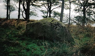 Saint Inan - The rocking Stone at Cuff Hill.