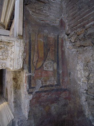 Sant'Adriano al Foro - Remains of a fresco