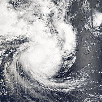 Cyclone Percy - Cyclone Percy hitting Swains Island on February 27, 2005