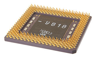 Socket 7 - Bottom view of a socket 7, 321-pin SPGA CPU