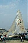 Dériveurs 18 pieds australiens au Salon Nautique International à Flot de La Rochelle 1987 (4).jpg