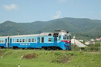 Ukrainian Railways - D1 diesel multiple unit near Khust