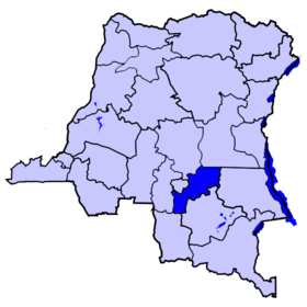 Localisation du district de Kabinda