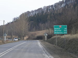 National road 5 (Poland) - National road 5 in Lubawka