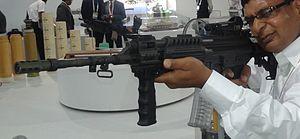 DRDO Multi Caliber Rifle being aimed.jpg