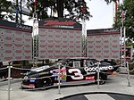 Dale Earnhardt car in front of Intimidator.jpg