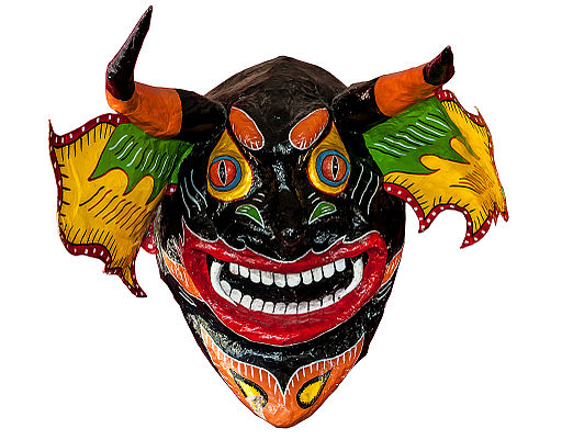 Dancing Devils of Yare Mask from Venezuela