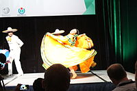 Dancing at the Wikimania 2015 Opening Ceremony IMG 7624.JPG