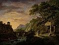 Daniël Dupré - Arcadisch landschap met ondergaande zon - SK-A-5015 - Rijksmuseum.jpg