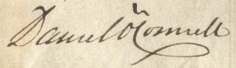Daniel O'Connell's signature