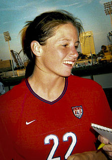 Danielle Fotopoulos All-American college soccer player, professional soccer player, World Cup team member