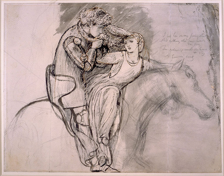 File:Dante Gabriel Rossetti - La Belle Dame sans Merci, 1855, pen and pencil.jpg
