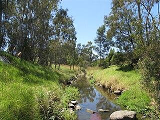 Darebin Creek river in Australia
