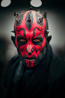 Darth Maul Cosplayer at MCM Comic Con October 2016.jpg