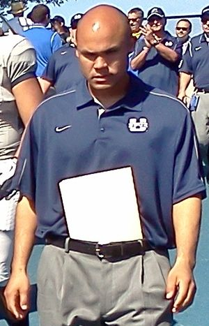 Dave Aranda - Aranda in 2012 as Utah State's defensive coordinator
