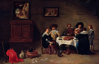 Gemäldegalerie, Berlin - Company at a Meal by David Teniers the Younger.