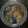 David Zipirovic, piatto con uomo e due cavalli (da Pinturicchio).jpg