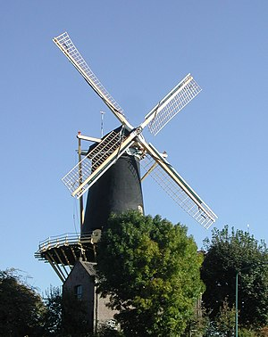 "Woerden - Windmill ""De Windhond"", a gristmill in the center of Woerden"