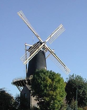 "Woerden - Windmill ""De Windhond"", a gristmill in the center of Woerden"