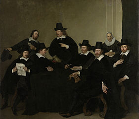 The regents of the Nieuwe Zijds institute for the outdoor relief of the poor, Amsterdam, ca 1650