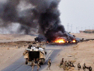 Iraqi insurgency (2003–2011) - A roadside bombing in Iraq on 3 August 2005