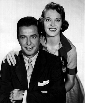 Dean Miller (broadcaster) - Miller and Frances Rafferty in December Bride, 1956.