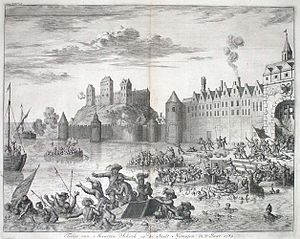 Maarten Schenck van Nydeggen - Martin Schenck drowns in the Waal River at Nijmegen, 10  August 1589.