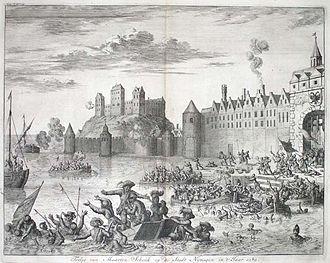 Maarten Schenck van Nydeggen - Martin Schenck drowns in the Waal River at Nijmegen, 10  August 1589.