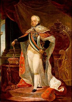 Museu Nacional de Belas Artes - Jean-Baptiste Debret, John VI of Portugal (w/d). Museu Nacional de Belas Artes collection.