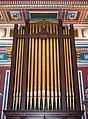 Decorative organ pipes at the Masonic Hall (95150).jpg